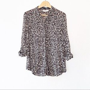 Anthropologie hei hei lion button down Shirt
